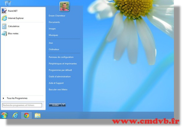 startmenu8 retrouver le menu d marrer windows 7 sous windows 8. Black Bedroom Furniture Sets. Home Design Ideas