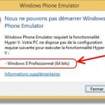 Avant de vous lancer dans l'installation du SDK Windows Phone penser à vérifier la version de Windows 7 ou 8…